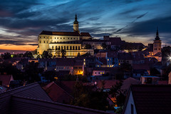 Beautiful view on city Mikulov in night after sunset (PhotoVision by Pavel Rezac) Tags: agriculture architecture autumn beautiful bottle building castle chapel church city country cultivation cultural czech destination europe european farm fortress garden hill historic historical history landmark landscape medieval moravia old outdoor panorama red rock romantic roof south summer sunny sunset tourism touristic tower town travel unesco view vineyard viniculture white wine mikulov southmoravianregion czechrepublic cz