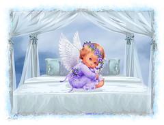 Angel in Four-poster (SØS: Thank you for all faves + visits) Tags: angel bed color colorful digitalart digitalartwork art kunstnerisk manipulation solveigøsterøschrøder artistic heaven romantic