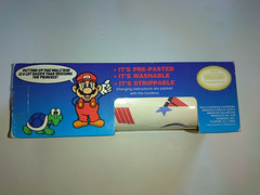 North American Decorative Products Super Mario Bros Nintendo Wall Trim 10 (gamescanner) Tags: north american decorative products super mario bros nintendo wall trim covering walltrim decor sculpted vinyl border upc 058559709011 058559709035 rosewall inc 1989 sku 70902
