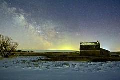 Milky Way March 10 5:14am (John Andersen (JPAndersen images)) Tags: abandoned alberta barn canon constellations milkyway mossleigh night sky snow stars winter
