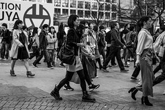 Shibuya Fashion Army Private First Class (burnt dirt) Tags: asian japan tokyo shibuya station streetphotography documentary candid portrait fujifilm xt1 bw blackandwhite laugh smile cute sexy latina young girl woman japanese korean thai dress skirt shorts jeans jacket leather pants boots heels stilettos bra stockings tights yogapants leggings couple lovers friends longhair shorthair ponytail cellphone glasses sunglasses blonde brunette redhead tattoo model train bus busstation metro city town downtown sidewalk pretty beautiful selfie fashion pregnant sweater people person costume cosplay boobs