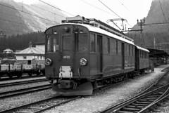 Rhb Xe 4/4 9920 Pontresina 07/08/1977. Foto Roberto Trionfini (stefano.trionfini) Tags: train treni bahn zug rhb xe44 retiche bernina pontresina svizzera suisse