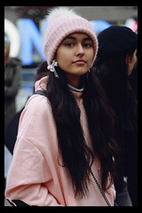 Shivani (TheJennire) Tags: photography fotografia foto photo canon camera camara colours colores cores light luz young tumblr indie teen adolescentcontent shivanipaliwal 2018 toronto canada pastelcolors pink winter ootd outfit longhair nowunited bts behindthescenes celebrity dancer blackframes