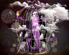 '...imprisoning of Father Time by Digital!' (tishabiba) Tags: surrealism surreale surreal time caged montage perception conceptional tish illusion digitalart digitalmania artphoto artwork