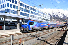 193 492 met Alpen Expres (vos.nathan) Tags: schweizerische bundesbahnen chemins de fer fédéraux suisses ferrovie federali svizzere sbb cff ffs cargo 193 br baureihe 492 innsbruck hbf hauptbahnhof vectron