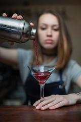 Bartender (kostak89) Tags: bartender coctail portrait bokeh shaker light hair bar pub