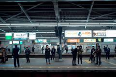 * (Sakulchai Sikitikul) Tags: street snap streetphotography summicron sony japan jr osaka 35mm leica a7s platform station people shinimamiya