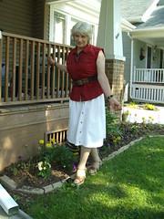 Spring Will Come Again! (Laurette Victoria) Tags: spring woman laurette skirt blouse belt blonde