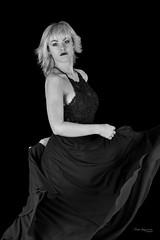 Dance (piotr_szymanek) Tags: ania aniaz woman young skinny portrait studio blackandwhite face eyesoncamera dress dance 1k 20f 50f 5k 10k 20k 100f