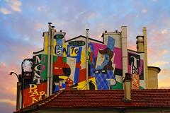 Rue de la Gaité Montparnasse (Edgard.V) Tags: paris parigi streetart urban art arte urbano mural callejero sunset coucher de soleil tramonto pordesol