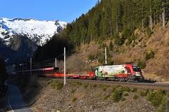 1116 159, ASTB 9624 (Mallnitz > Böckstein). Mallnitz-Hintertal (M. Kolenig) Tags: 1116 150 jahre brennerbahn tauernbahn berg autoschleuse schnee
