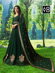 Dark Green Designer #AnarkaliSalwarSuit online On #YOYOFashion. (yoyo_fashion) Tags: style fashion dresses suits shopping offers womenwear eidspecialdress designerdress look lookbook womenwearsuit greendress offer indianwear ethnicwear bridalwear indianwedding womenfashion outfitinspo ethnic indianfashion
