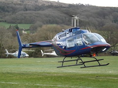 G-IGIS Bell Jet Ranger 206 Helicopter (Private Owner) (Aircaft @ Gloucestershire Airport By James) Tags: cheltenham helipad gigis bell jet ranger 206 helicopter private owner egbc james lloyds