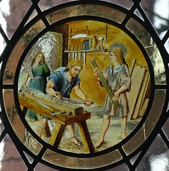 [73642] York : Merchant Adventurers Hall Chapel - East Window (Budby) Tags: york northyorkshire hall guild gild window stainedglass chapel church