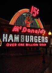 McDonald's Hamburgers Sign (.annajane) Tags: cincinnati museum ohio americansignmuseum signs neon mcdonalds hamburgers advertising advert electronicsign