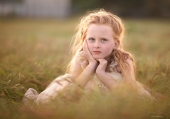 Jessie ({jessica drossin}) Tags: jessicadrossin wwwjessicadrossincom portrait child girl redhair red head pretty freckles kid field green gold face