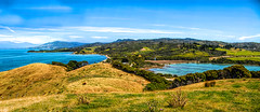 Farewell Spit - New Zealand (Bobinstow2010) Tags: newzealand blue sea mountains hills collingwood farewellspit beach forest woods sky clouds green fields countryside southisland