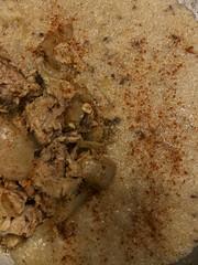 2019-01-07_18-34-03.iOS (jalexartis) Tags: home cooking food dining diner meat veggies iphonex salmon grits salmongrits salmongritswithmushroomsonions