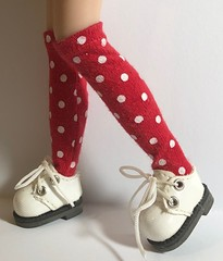 """Tall Red And White Polk A Dot Socks For Blythe... • <a style=""""font-size:0.8em;"""" href=""""http://www.flickr.com/photos/34492931@N07/31784809337/"""" target=""""_blank"""">View on Flickr</a>"""