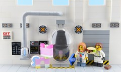 How Ice Cream Cone was really made 1/2🍦 (Alex THELEGOFAN) Tags: lego legography minifigure minifigures minifig minifigurine minifigs minifigurines laboratory lab movie 2 the ice cream cone unikitty white gray scientist