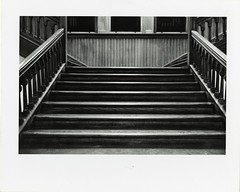 Cambridge City Hall, 1971, The Main Stairway (Cambridge Room at the Cambridge Public Library) Tags: cambridgemass cambridge massachusetts bw blackandwhite olivepierce pierceolive cambridgecityhall