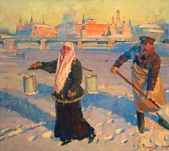 Сергей Смирнов «Крещенские морозы», 2007 г. (Gostya) Tags: winter russianvillage russianart woman paintings art artists