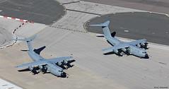 Royal Air Force Airbus Military A400Ms ZM411 & ZM415 at RAF Gibraltar/LXGB (Mosh70) Tags: gibraltar rafgibraltar raf rafbrizenorton royalairforce airbusmilitary a400matlas a400matlasc1 zm411 zm415 70sqn 24sqn xxivsqn