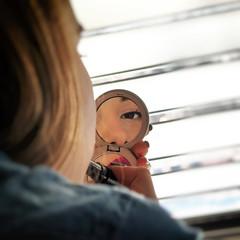 Ina (Sebastian Pier Filip) Tags: canon g16 portrait reflection mirror girl eye
