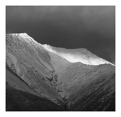 Blencathra, The Lake District (dandraw) Tags: blackandwhite mountains mono monochrome blencathra thelakedistrict thelakes cumbria snow winter ridge lightsource sunlight moody atmospheric drama dramatic clouds outdoors adventure fuji fujifilm xt3