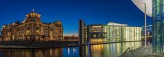 Reichtagsufer Panorama (ThoBra69) Tags: berlin spree reichstag paullöbehaus ufer blauestunde reichstagsufer hdr regeierungsviertel