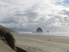 cloudy to the south (carolyn_in_oregon) Tags: cannonbeach oregon pacificocean