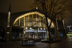 Central Station (Rudi Pauwels) Tags: 2019onephotoeachday goteborg gothenburg sverige sweden schweden station centralstation centralstationen nordstan city evening eveningwalk highiso iso800 handheld tree silhouette