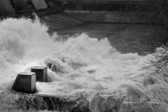 Vasona Dam-9014251 (Jeffrey Balfus (thx for 4 Million views)) Tags: sonyalpha sonya9mirrorless sonyilce9 fullframe 90mmf28macrogossprimelensmacrosel90m28g rapids water blackandwhite bw monochrome