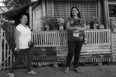 No Candid Here (Beegee49) Tags: street posing women smiling filipina blackandwhite monochrome bw luminar sony a6000 conception negros occidental philippines asia