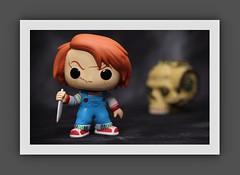 Chucky (N.the.Kudzu) Tags: tabletop toys funkopop chucky steampunk skull canondslr canoneflens canon430ex flash photoscape frame home