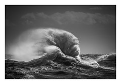 'Flabellum' - Newhaven Harbour / March 10th (Edd Allen) Tags: newhaven harbour newhavenharbour sea seaside coast coastal waves storm rain clouds moody atmosphere atmopsheric ethereal serene bucolic nikond810 nikkor70200mm england uk southcoast southeast eastsussex landscape seascape blackandwhite bw frenzy fan handfan flabellum