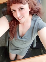 In the office taking photos while im supposed to be working (-marieerica81) Tags: transgendered transvestite crossdressing crossdresser tgirl tgurl transexual officegirl