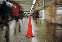 NYC Subway Station (skymu1) Tags: nyc newyork city subway people work longexposure leica film 35mm street streetphotography kodak leicamp