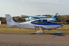 G-CHPG Cirrus SR20 G2 Blackbushe 26th March 2019 (michael_hibbins) Tags: gchpg cirrus sr20 g2 blackbushe 26th march 2019 turbo general civil g british britian uk united kingdom britain europe european props propeller propellers p aeroplane aerospace aircraft airplane aero airfields airport airports planes plane