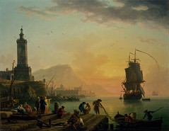 Claude-Joseph Vernet - A Calm at a Mediterranean Port (1770) (Padre Martini) Tags: claudejosephvernet art paintings 1770