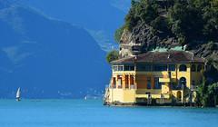 Riva del Garda - Lake View (cnmark) Tags: italy italia rivadelgarda gardasee lake garda lago villa house building morning boats ©allrightsreserved