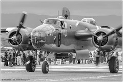 Grumpy (rssii) Tags: aircraft vehicles warbird wwii bomber b25d mitchell aviation military flyin airshow vintage heritage worldwarii usa blackwhite monotone historic airforce armyaircorps combat airplane