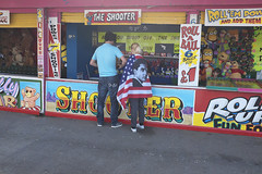 The shooter (kevin Akerman) Tags: elvis festival coney beach attractions elvisfestival porthcawl