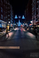 Luces navideñas (Andoni Fernández photography) Tags: luces navidad christmas reflections lights color nocturne nocturna bilbao city street decoration
