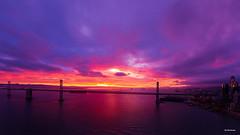 Red Dawn Over San Francisco Bay (davidyuweb) Tags: red dawn over san bay 三藩市 sanfrancisco francisco reddawnoversanfranciscobay bridge luckysnapshot