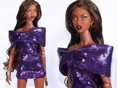 brilliance Adele (marcelojacob) Tags: brilliance adele makeda doll fashion royalty marcelo jacob sequin dress bow purple factor fr2