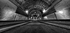 The tunnel (zuiko12) Tags: fisheye club16 mzuiko olympus prime zuiko cityscape omd em1 8mm hamburg bw sw