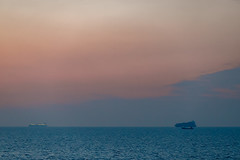 Cargo Ships After the Cruise Ship (aksoykaan1) Tags: canon6dii canon6d2 canon6dmk2 6dii 6dmk2 canon canon70300ii 70300ii sunset sea seascape ships distant horizon minimalist landscape