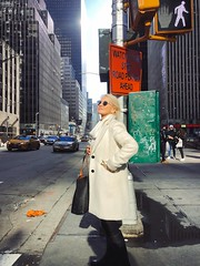 Blanche (ShelSerkin) Tags: shotoniphonex shotoniphone hipstamatic iphone iphoneography squareformat mobilephotography streetphotography candid portrait street nyc newyorkcity gothamist