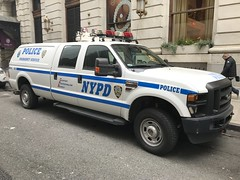 NYPD Emergency Service Squad 8 Ford F-250 Pickup Truck (NY's Finest Photography) Tags: highway patrol state nypd fdny ems police law enforcement ford dodge swat esu srg crc ctb rescue truck nyc new york mack tbta chevy impala ppv tahoe mounted unit service squad dcu windshield road